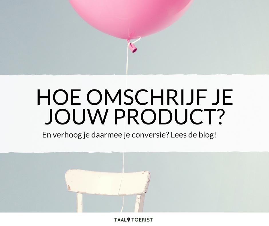 Productbeschrijving maken, hoe doe je dat?